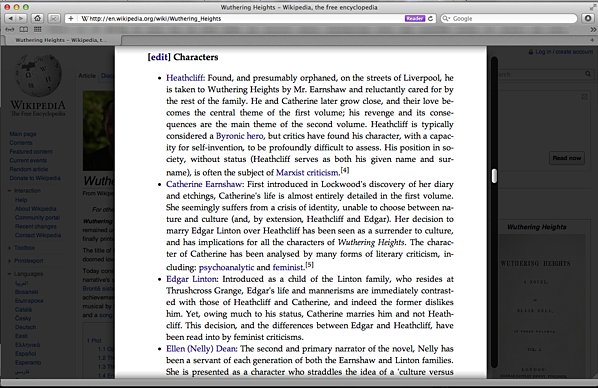 image of safari reader with margins