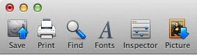 image of old toolbar icons